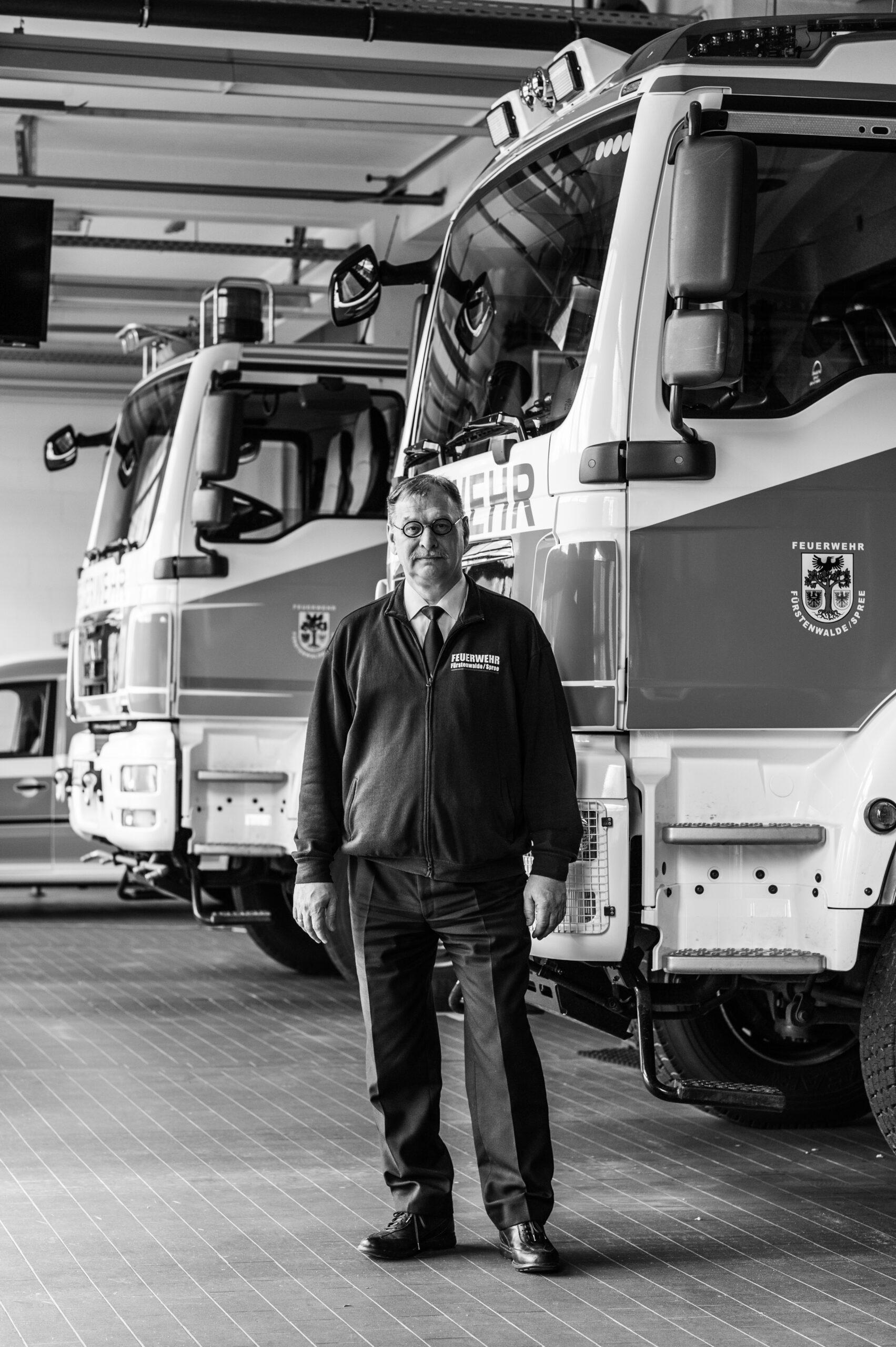 Jörn Müller, Leiter der Feuerwehr Fürstenwalde