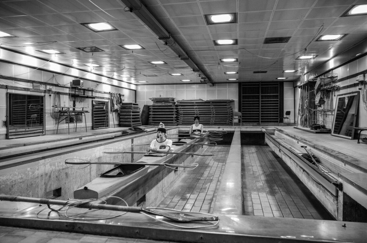 Das Kanu-Becken im Trainingszentrum in Kienbaum