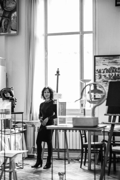 Künstlerin Ulla Walter in ihrem Schöneicher Atelier