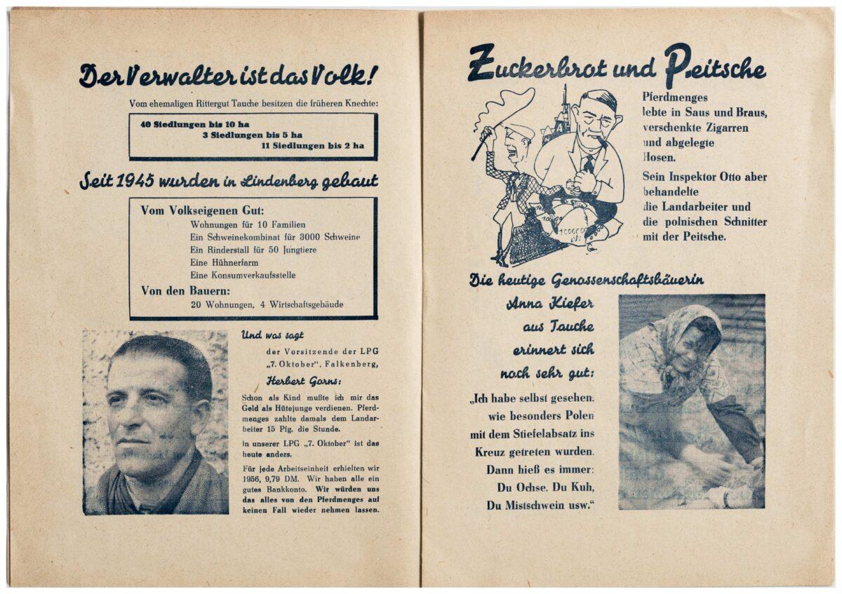 Die Bauern von Lindenberg, Tauche und Falkenberg über den ehemaligen Besitzer des Gutes Lindenberg, Robert Pferdmenges