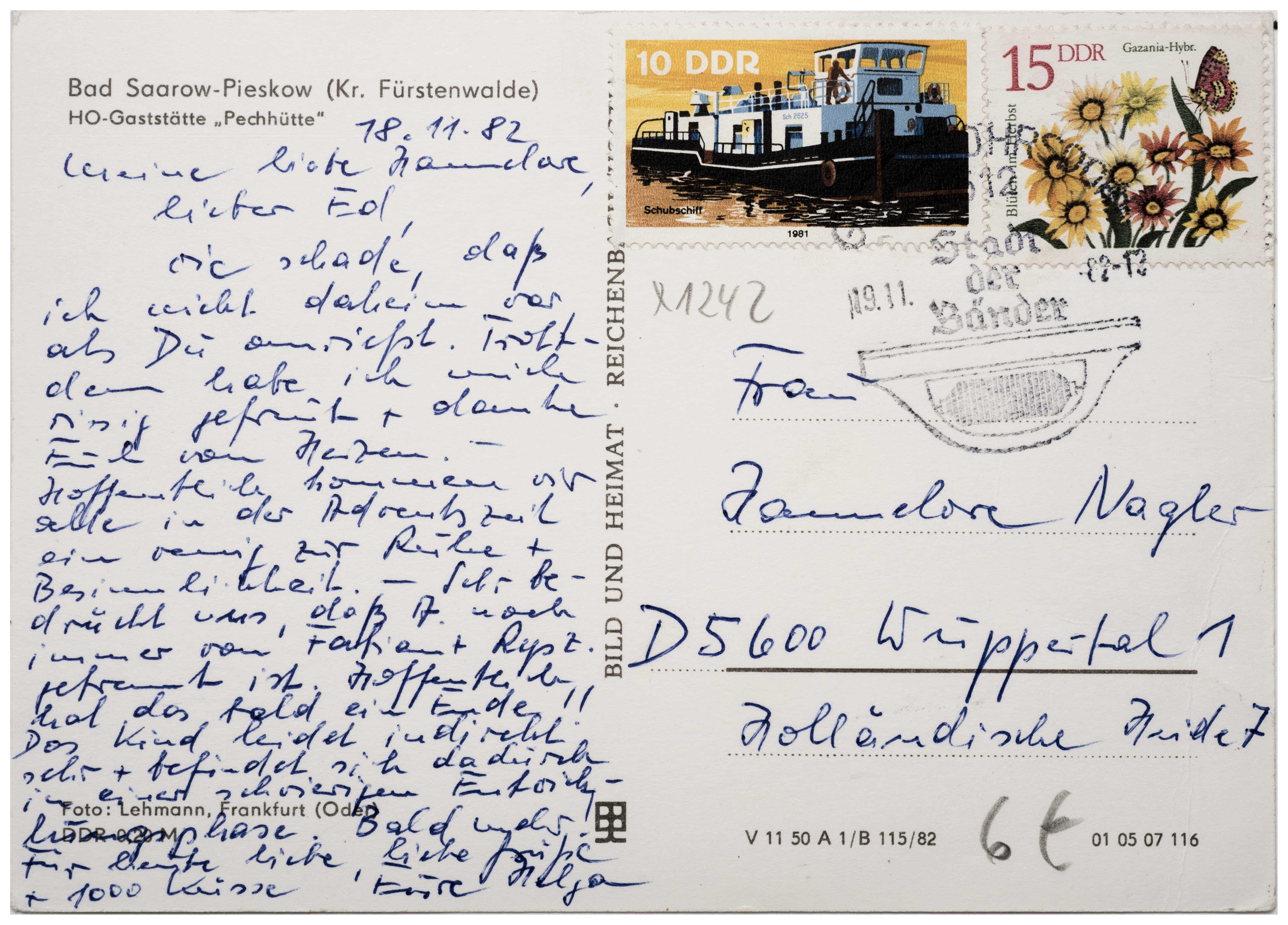 Postkarte Bad Saarow - »HO-Gaststätte Pechhütte« Bad Saarow-Pieskow