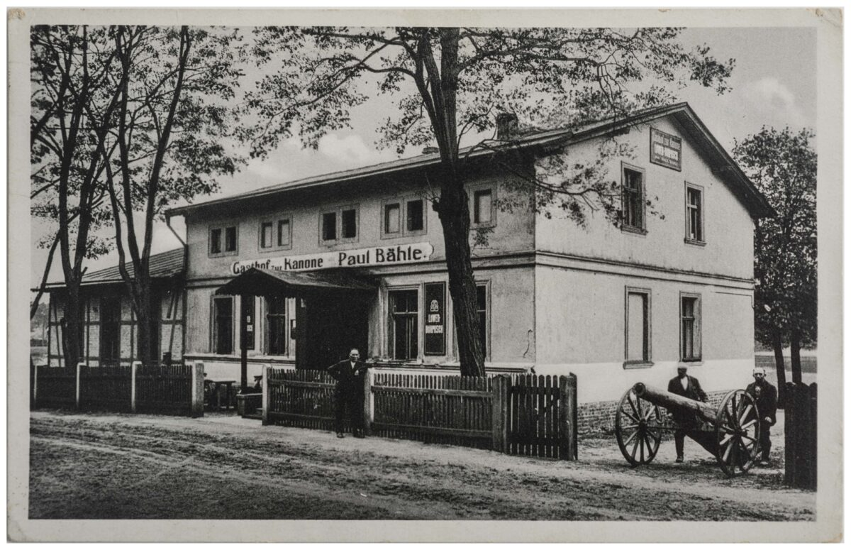 Postkarte »Gasthof zur Kanone Paul Bähle an der Kersdorfer Schleuse« von 1938