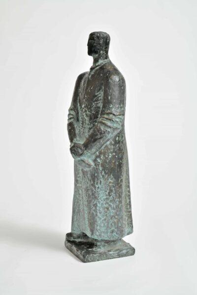 »Hochöfner«, Skulptur von Herbert Burschik (1922-1990), Studie zum »Stahlwerker«