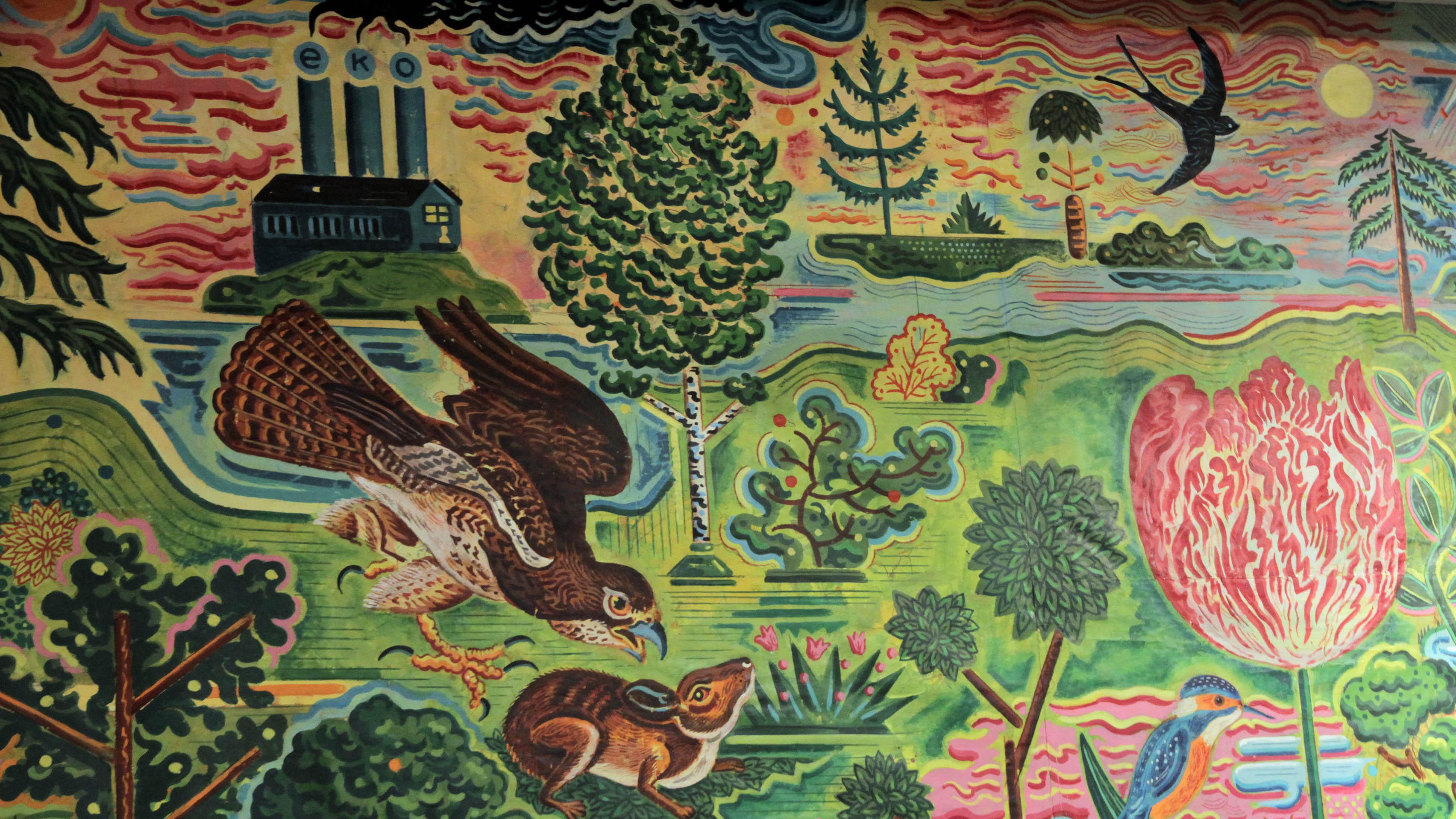 Wandbild von Georg Barber alias Atak